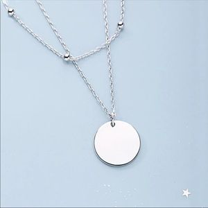 Sterling Silver Two Layered Necklace